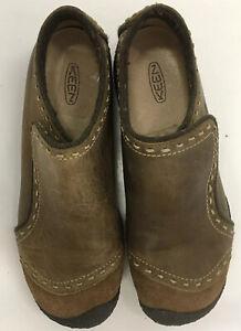 KEEN 8/38.5 Bisect Coffee Bean SlipOn Suede Leather Casual Walking Shoe