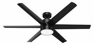 Genuine Hunter 59624 60``Ceiling Fan Solaria Matte Black