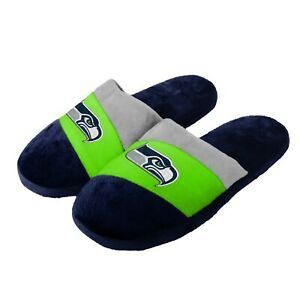 Seattle Seahawks Youth Colorblock SLIDE SLIPPERS New - FREE USA SHIPPING