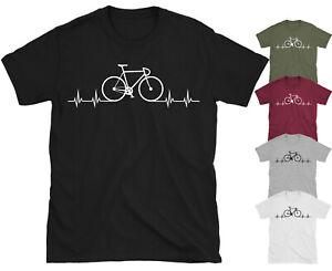 Bike Heartbeat Love Bike Cycling Bicycle T-shirt Top Gift Idea Tee