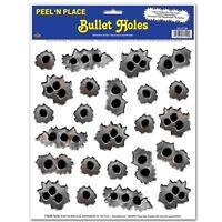 24 Bullet Holes Peel and Place Decorations - Wild West Cowboy Party Decoration