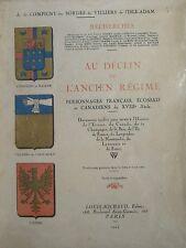 DÉCLIN DE L ANCIEN RÉGIME XVIII éme ECOSSE CANADA CHAMPAGNE LANGUEDOC NORMANDIE