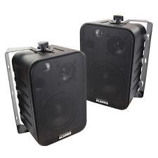 Lautsprecher Mini Boxen Paar mit Halterung 3 Wege 30watt
