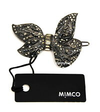 MIMCO DANDY BOW HAIR CLIP IN JET CRYSTAL BNWT RRP$59.95