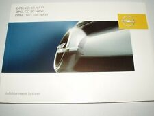 Manuale d'uso OPEL situazione System cd60, cd80, dvd100 navi, nuovo 01/07
