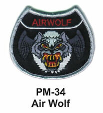 """3"""" AIR WOLF Embroidered Military Patch"""