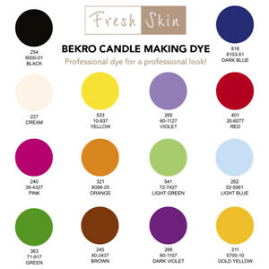 Bekro Candle Making Dye - Pure Wax Chips/Flakes Dyes - Great Colours For Candles