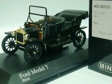 WOW EXTREMELY RARE Ford Model T Touring 1914 3-Door Open Black 1:43 Minichamps