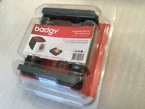 Badgy 100/200 Color Ribbon for 100 Prints YMCKO-CBGP0001C.....NEW