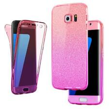 Shockproof 360° Silicone Clear Case Cover For Samsung Galaxy S8+ S7 edge J3 A5