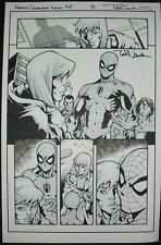 Original Art AMAZING SPIDER-MAN #14 page 8 by TODD NAUCK, signed!