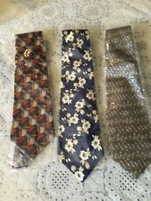 Lot of 3 Cocktail Collection Men's Tie Handmade vibrant colorful neckties WOW!