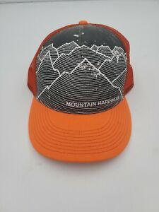 MOUNTAIN HARDWEAR SNAPBACK ORANGE GRAY MESH BASEBALL CAP