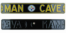 Pittsburgh Steelers Authentic Steel Street Sign Man Cave with Logo 36x6 36in