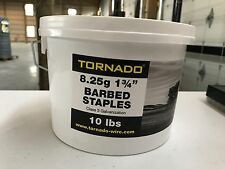 "Tornado 8.25g 1.75"" Barbed Staples 10 lbs"