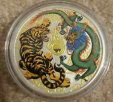 2018 Australia 1 oz colour Silver Dragon Tiger coin .999