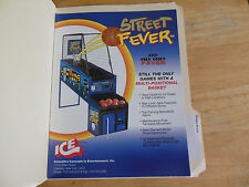 STREET FEVER   ARCADE GAME  FLYER