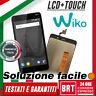 "LCD DISPLAY+TOUCH SCREEN per WIKO LENNY 4 PLUS 5,5"" SCHERMO MONITOR VETRO 24H!"