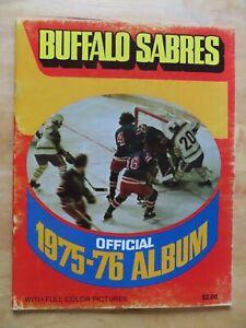 1975-76 BUFFALO SABRES Yearbook GIL PERREAULT JIM SCHOENFELD PETER McNAB RAMSAY