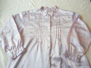 Nightgown Long Pale Lilac Cuddelskin Women's Size Medium
