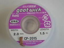 GootWick Desoldering Iron Rework Reballing Solder Remover 2mm Wick Wire