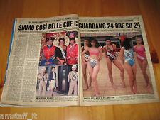 OGGI 1988/21=SIMONA VENTURA CONCORSO MISS UNIVERSO=CLIPPING RITAGLIO FOTO PHOTO