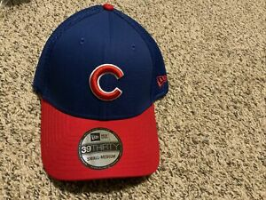 New Era Cap Chicago Cubs 39thirty NEO Hat Blue/Red Men's Size:  S/M