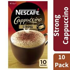 10 Serves Nescafe Strong Cappuccino Sachets with Chocolate Shakers 132g
