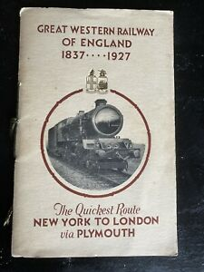 Great Western Railway of England 1837-1927 The Quickest Route NewYork To London