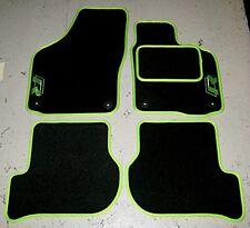 Fußmatten passend füR Volkswagen Golf Mk6 09-13 + R/R Line Logos Schwarz/