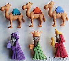 Noi TRE RE Natale natività RE MAGI GESù BAMBINO CAMEL dress It Up Bottoni