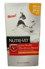 Nutri-vet Joint Health Plus Perna Mussel Chewables for Dogs 100 Count. Exp 09/20