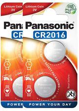 4 x Panasonic CR 2016 3V - 2 x 2er Blister Batterie Lithium Knopfzelle 90mAh