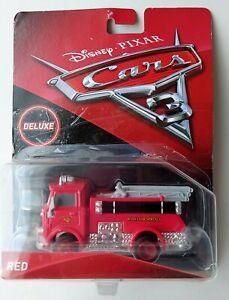 DISNEY PIXAR CARS 3 DELUXE FIRETRUCK RED Mattel 2016