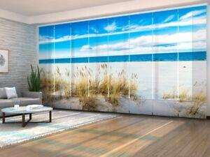 Foto-Schiebegardine weißer Strand, Flächenvorhang mit Motiv, Fotodruck auf Maß