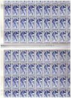 S17627) Italy MNH 1955 c.50 Labour s.1v Double Full Sheet Folded - Note