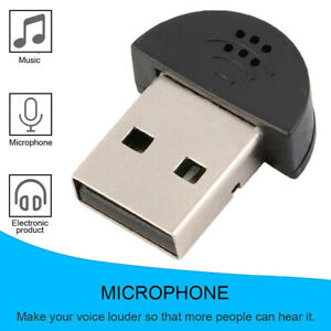USB 2.0 Mini Mikrofon Adapter Konverter Für PC Laptop Windows Mac Linux