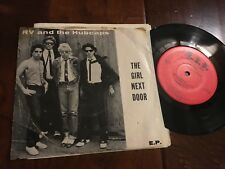 """RV and the Hubcaps 45rpm 7"""" The Girl Next Door Power Pop New Wave Record E.P."""