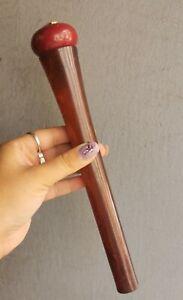 Antique Real Bakelite Cherry Faturan Walking Stick Handle Cane with Enamel 171 g