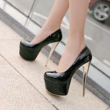 Women Stilettos Sexy High Heels Platform Nightclub Pumps Party Shoes Size 33-48