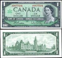 CANADA 1 DOLLAR 1967 P 84 b UNC