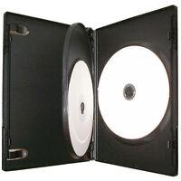 25 X 3 Way Triple CD DVD Blu ray Case Black 14mm Spine HIGH QUALITY