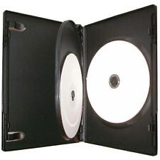 1 x 3 Way Triplo CD DVD BLU RAY Custodia nera da 14 mm spina alta qualità