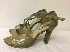 Repetto Paris Heels Women Strap Shoes Olive green heel leather shoes size 35