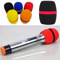 10x Random Colorful Handheld Stage Microphone Windscreen Foam Mic Cover Karaoke
