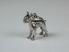 Sterling Silver Boston Terrier Dog Charm Free U.S. Shipping & Lobster Clasp