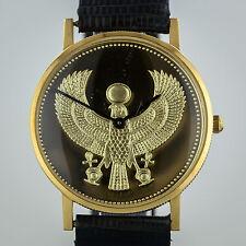 18K Gold Egyptian Golden Falcon, Franklin Mint, Swiss Watch