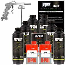 U-POL Raptor Black Urethane Spray-On Truck Bed Liner Kit w/ FREE Spray Gun, 6 L