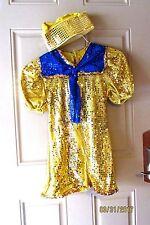 Sailor Nautical Dance Theatrical Halloween Costume Gold Blue