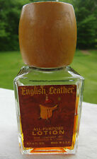 Vintage Collectible English Leather After Shave 4oz  bottle 1/2 Full